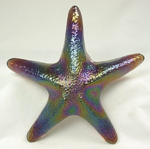 Amethyst Glass Starfish Pattern